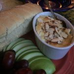 baked brie with almonds and fruit