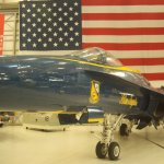 FA-18 Hornet in Blue Angels colors