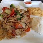 Lunch Special: pad Kee Mao $9