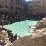 Trevi Fountain Mob Scene Rome Italy April 2017