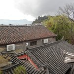 Great views over the rooftops to the mountains