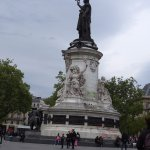place republique; metro hub 5 mins walk from hotel.