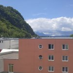 Rooftop terrace looks onto the Alps