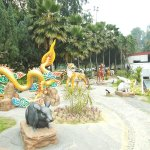Some of the zodiac animal sculptures on the outer grounds (right outside the temple building)
