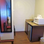 Room 116, wet bar, microwave and refrigerator - nice touch