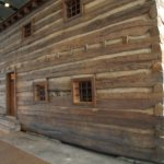 Part of the outside of a slave jail/slave holding pen that was moved to Cincinnati and reassembl
