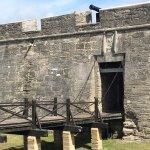 drawbridge into the fort
