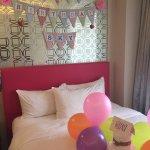 Heartwarming surprise birthday decor arranged by VHK team