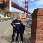 Me & my honey under the Golden Gate Bridge.