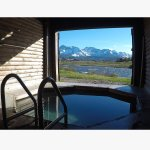 Private hot spring and Stanley Lake