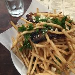 Pork belly fries with truffle oil....must have!