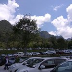 mountain view from the parking lot