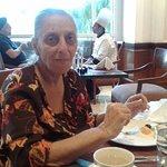 My wife, Dr Rashna K. Selvaduray enjoying her ITC breakfast!