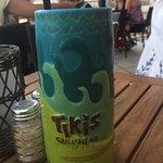 Tiki bat surfer girl drink