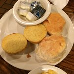 Corn bread and biscuits