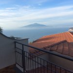 View from the room balcony of the bay of Naples