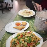 Chilli Chicken and Basil and Green Curry with Chicken plus free entree.