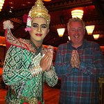 Traditional Thai Show and food at the Sala Rim Naam, Mandarin Orient Hotel Bangkok.