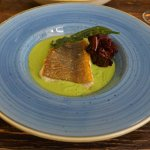 Ling with Seaweed and Fresh Pea Puree