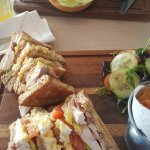 Club sandwich in the spa restaurant