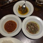 Three types of sambal provided (only one was spicy enough for my liking)