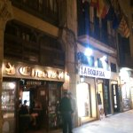 The hotel entrance can be seen immediately to the right of La Boqueria.