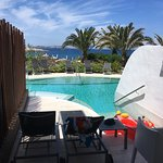 A few pictures of our swim up room, infinity pool, water park and beach which is a 2 minute walk