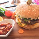 Mexican spicy double cheese burger