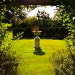 The Rose arbour and Yew circle