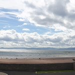 panorama from the beach terrace over the Firth of Clyde
