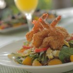 Coconut Crusted Shrimp Salad