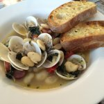 Clams with White Beans and Andouille Sausage