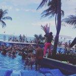 Foam party in the pool!