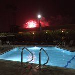 Fireworks from the pool