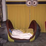 Last night in the minions beds.