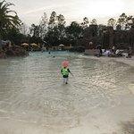 Beach entry! The slide was so much fun!
