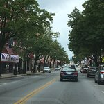 Love the  Tennessee and Virginia flags lining both sides of the street