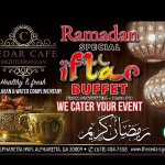 JOIN US THIS RAMADAN FOR OUR IFTAR BUFFET!