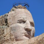 The Crazy Horse Memorial is larger than Mount Rushmore - a work in progress to honor the forgott