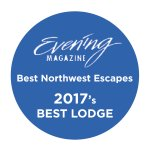 Best Northwest Escapes badge award 2017