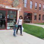Shoppers at Light of Grace Bookstore on the south side of Coppes Commons -- Lincoln St, Nappanee