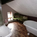 Beautiful bathroom of top floor room