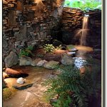 Marvel at the interior waterfall and stream in our B&B Middle TN Bed and Breakfast