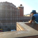taken from the cafe opp. the hawa mahal