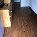 All new wood grain plank flooring, new triple sheet down comforters bedding and freshly painted