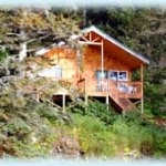 Our Fireweed cabin overlooking Otter Cove sleeps 4-6 and sits at the head of Sadie Knob Trail