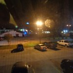View at night from room