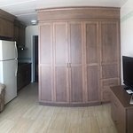 Updated Murphy Bed Cabinets and Furniture in Efficiency Unit