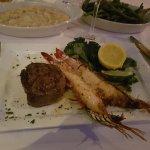 Filet mignon with Madagascan shrimp