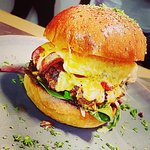 Loaded beef burger